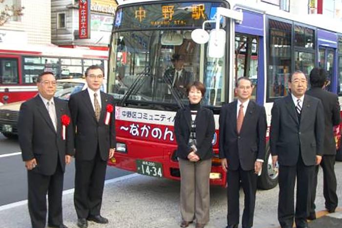 コミュニティ―バスなかのん(現・八成小学校行)の運行を推進